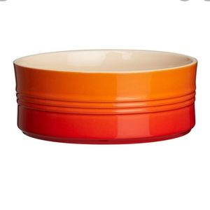 NIB Le Creuset small souffle Bowls Volcanic ombre orange red
